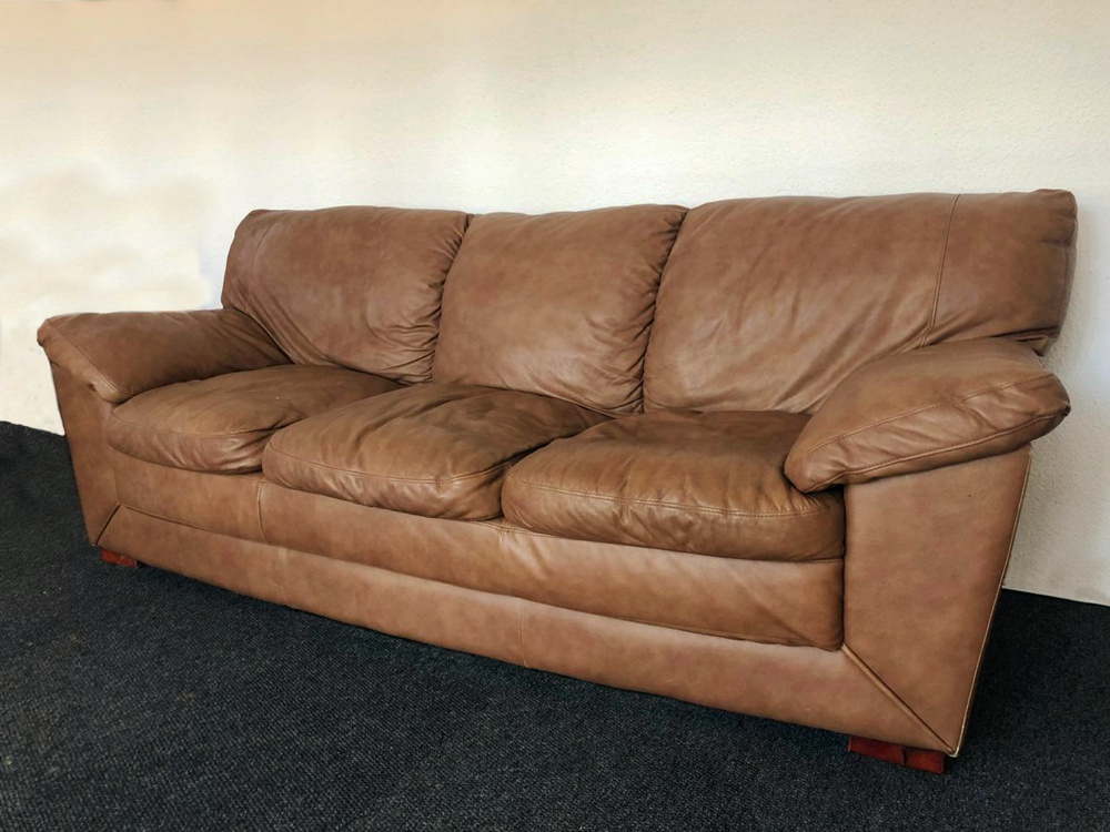 Vintage Leather Couch For Sale Bellville 3 Seater